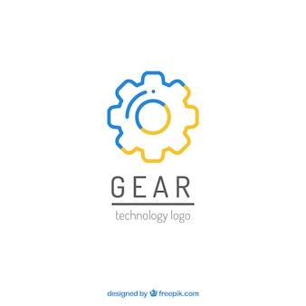 Graphiques engrenage logo vecteur