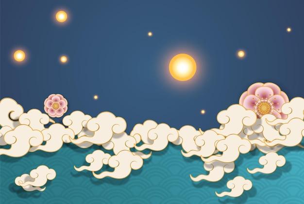 Graphiques de fond pour le festival chinois
