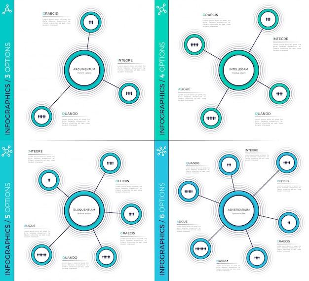 Graphiques infographiques créatifs minimalistes, schémas, art.