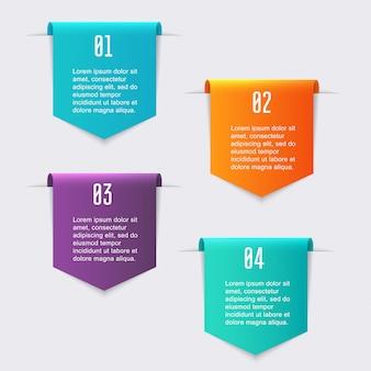 Graphiques d'informations colorées pour vos présentations commerciales.