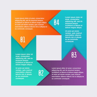 Graphiques D'informations Colorées Pour Vos Présentations Commerciales. Vecteur Premium