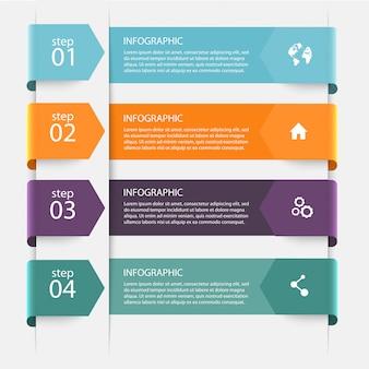 Graphiques d'informations colorées