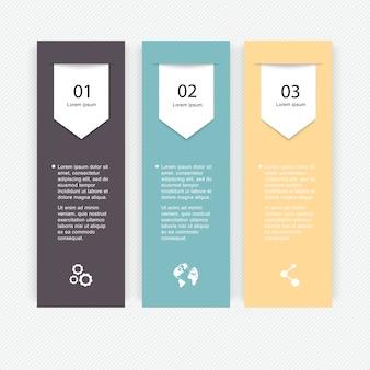 Graphiques d'informations colorés pour vos présentations commerciales.
