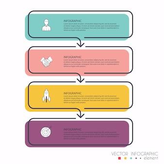 Graphiques d'informations pour vos présentations professionnelles. peut être utilisé pour la mise en page du site web, les bannières numérotées, le diagramme, les lignes de découpe horizontales, le web.
