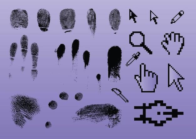 Graphiques pointeur empreintes digitales