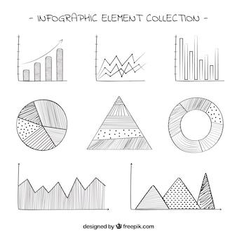 Graphiques pour infographies avec des conceptions différentes