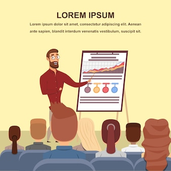 Graphiques de présentation augmenter le public cible