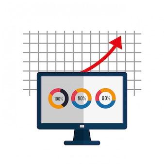 Graphiques de profit, illustration vectorielle
