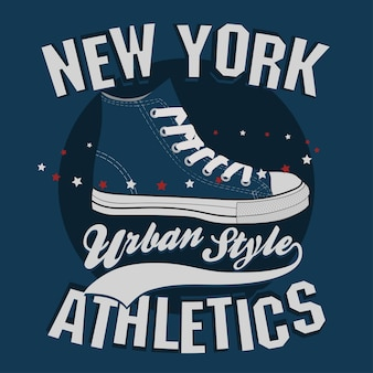 Graphiques de timbres de t-shirt de new york, impression de tee-shirt, conception de vêtements de sport