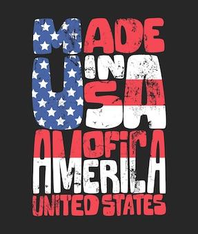 Graphiques de tshirt américain de typographie de denim vintage