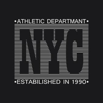 Graphiques de typographie de la ville de new york. imprimer pour t-shirt, conception de vêtements. illustration vectorielle.