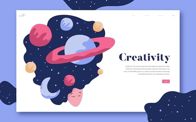 Graphisme du site de la créativité et de l'espace