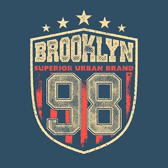 Graphisme t-shirt vintage brooklyn
