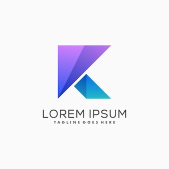 Gras lettre k logo vecteur