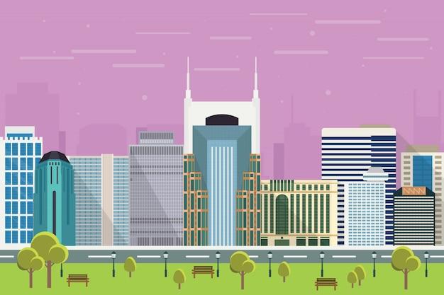 Gratte-ciel de la ville de nashville illustration