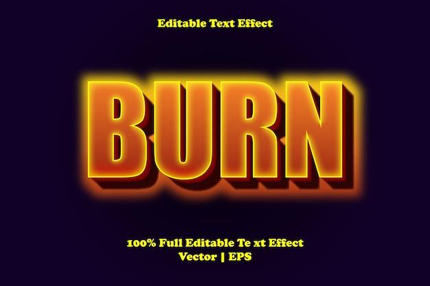 Graver un effet de texte modifiable