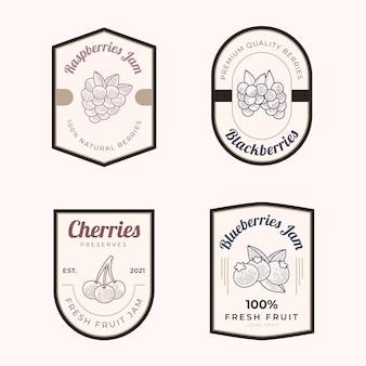 Gravure de badges de confiture dessinés à la main