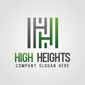 Green abstract lettre h logo