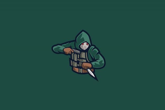 Green assasins e sports logo