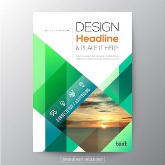 Green business brochure template design