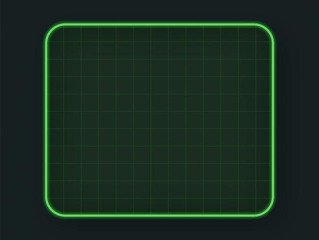 Green tech hud grid