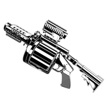 Grenade lanceur d'armes à feu de vecteur de conception