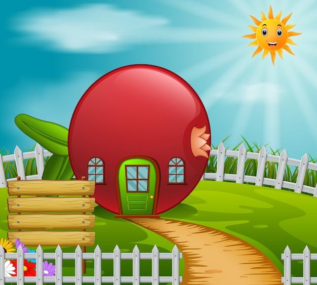 Grenade maison dans le jardin