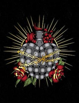 Grenade sacré coeur jésus