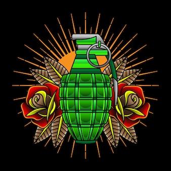 Grenades de tatouage traditionnelles
