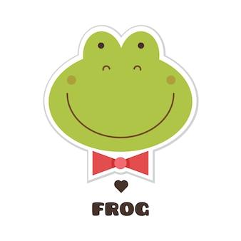 La grenouille. illustration vectorielle
