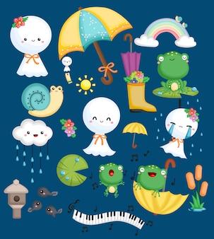 Grenouilles, escargots et poupées météorologiques