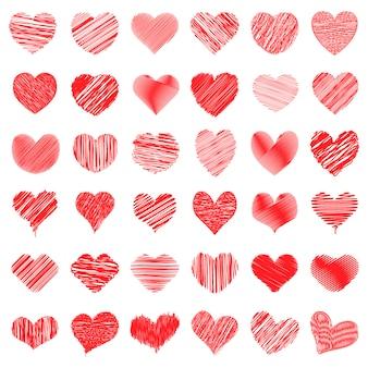 Gribouillis en forme de coeur