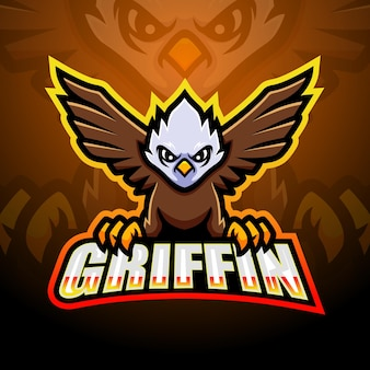 Griffin mascot esport lllustration
