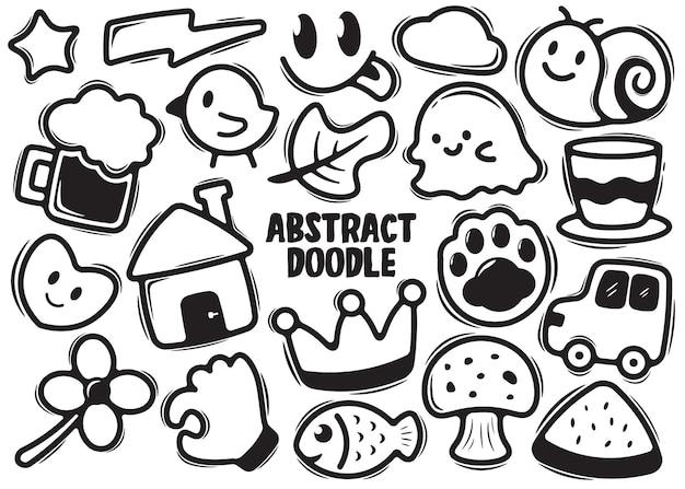 Griffonnage abstrait doodle dessiné à la main