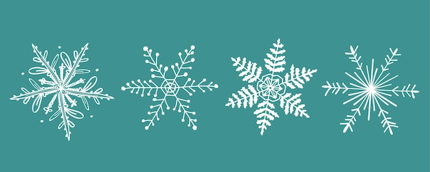 Griffonnage des flocons de neige