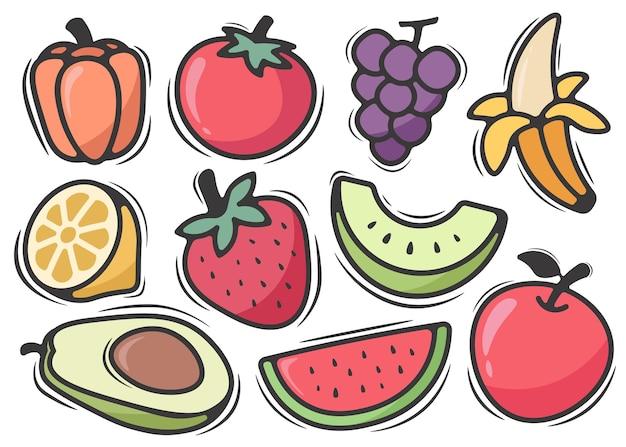 Griffonnage de fruits
