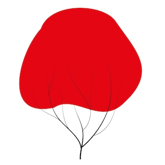Griffonnages d'automne rouges vecteur toute saison hiver printemps été automne style plat