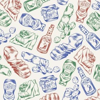 Griffonnages de supermarché gravés à la main
