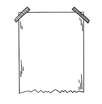 Griffonner le style de gribouillis de croquis de vecteur dessiné à la main