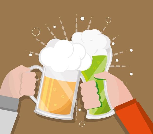 Grillage avec de la bière