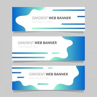 Grille de bannières web gradient