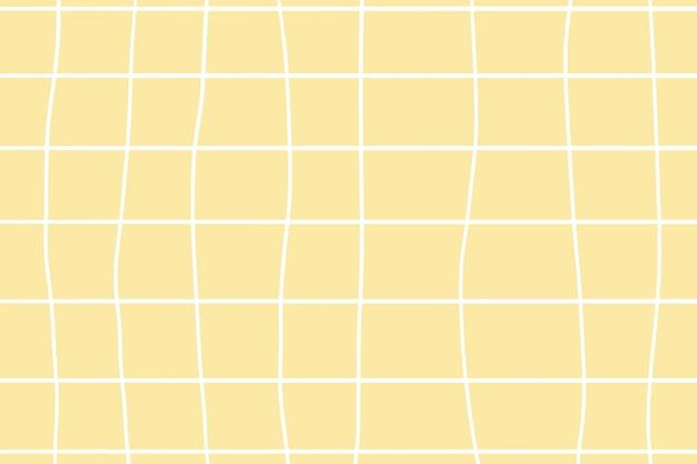 Grille cursive fond esthétique pastel jaune