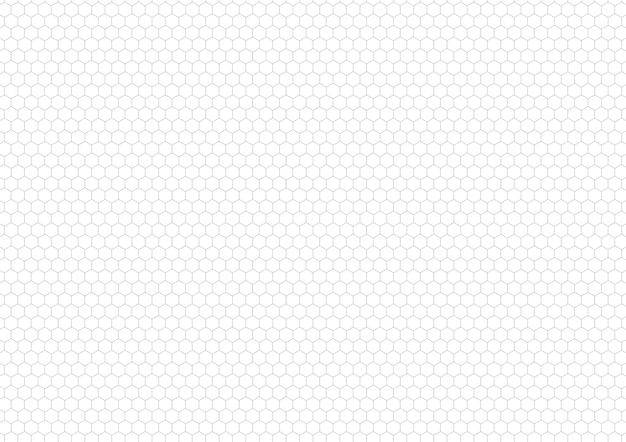 Grille hexagonale grise, fond horizontal de format a4
