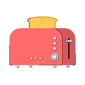 Grille-pain de cuisine avec du pain cuit équipement d'appareils de cuisine