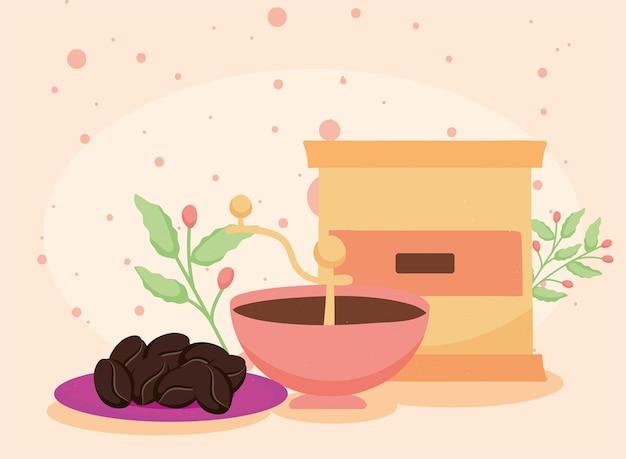 Grille-pain et grains de café