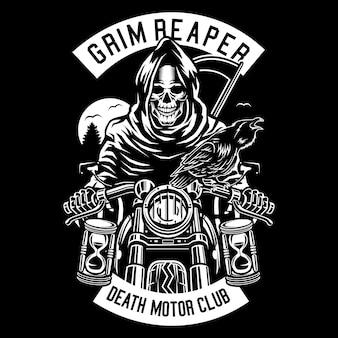 Grim reaper biker
