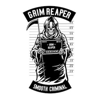 Grim reaper mugshot