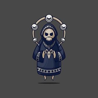 Grim reaper tenant la tête de chèvre