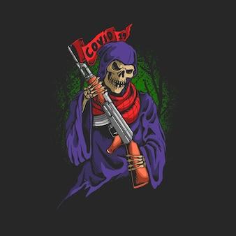Grim reaper utilise une arme de virus ak47