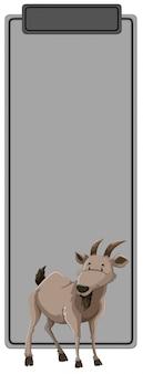 Un gris avec un animal de chèvre